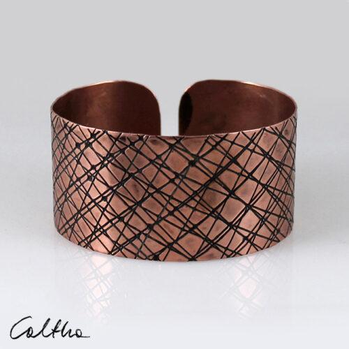 Duża miedziana bransoleta